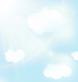 abstract blue sky backgrounds vector image