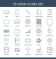 25 open icons vector image vector image