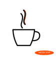 a simple stylized linear image of a cup vector image