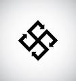 abstract creative arrows symbol vector image
