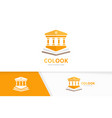 bank and open book logo combination column vector image