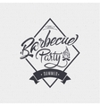 BBQ party - poster sticker badge label icon vector image vector image