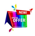 big sale offer rainbow tags vector image vector image