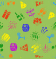 birthday party seamless pattern vector image vector image