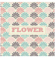 colorful flower background pattern image vector image