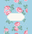 cover or card template shabchic rose seamless vector image vector image