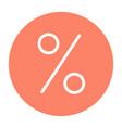 discount silhouette icon 48x48 minimal pictogram vector image