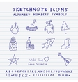 Doodle Russian Icons vector image