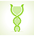 Ecology concept- leafs make a DNA strand vector image vector image