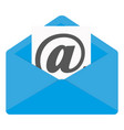email icon flat design vector image vector image