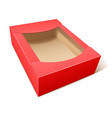 empty red cardboard box vector image