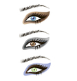 Eyes design elements - art vector image vector image