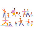 family sport various families activities adults vector image