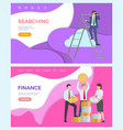 finance optimize online content web searching vector image vector image