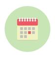 Flat style calendar icon vector image vector image