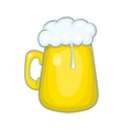 Glass mug of beer icon cartoon style vector image