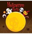 Halloween Ghost on Full Moon vector image vector image