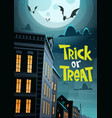 halloween party banner trick or treat holiday vector image vector image