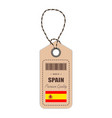 hang tag made in spain with flag icon isolated on vector image vector image
