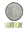 Happy Earth Day Design Concept Tree rings symbolic vector image vector image