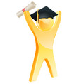 happy gold graduate vector image vector image