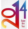Happy New Year 2014 rainbow vector image vector image