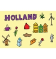 Holland icons set vector image vector image