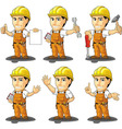 Industrial Construction Worker Mascot 2 vector image vector image