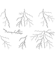 Lightning collection vector image