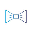 line nice bowtie style decoration design vector image vector image