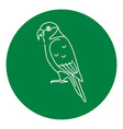 lory parrot icon in thin line style vector image