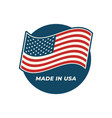 made in usa composition with american flag vector image vector image