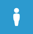 male symbol icon white on the blue background vector image