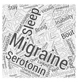 Migraines and Insomnia Word Cloud Concept vector image vector image