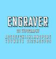 modern engraved font vector image vector image