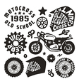 Motorcycling elements in hand drawn style