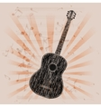 musical background acoustic guitar vector image vector image