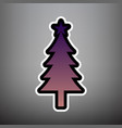 new year tree sign violet gradient icon vector image vector image