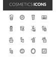 outline black icons set vector image