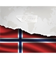 paper with hole and shadows NORWAY flag vector image