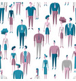 people crowd seamless pattern with men and women vector image vector image