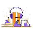 podcast concept interview radio and online vector image vector image