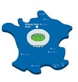 Princes Park Paris Euro 2016 vector image vector image