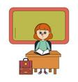 school girl cartoon vector image