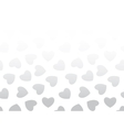 Seamless background of black hearts on white vector image