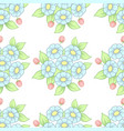 seamless pastel flowers background vector image vector image
