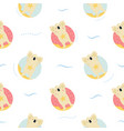seamless pattern cute hand drawn relaxing koals vector image vector image