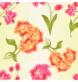 seamless texture bunch orange and pink lily vector image