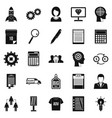 seo business icons set simple style vector image vector image