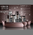 set cosmetics package for men banner vector image vector image
